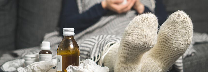 Verschiedene Behandlungsmethoden einer Erkältung.