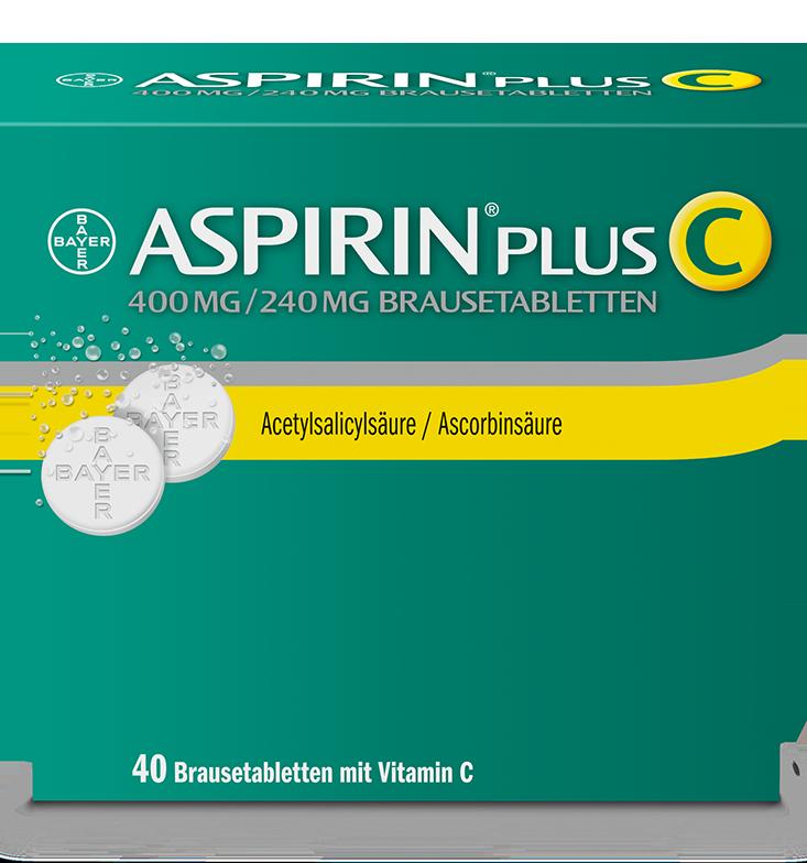 Aspirin® Plus C bei Kopfschmerzen und Fieber.